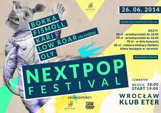 Nextpop Festival, plakat (źródło: mat. prasowe)