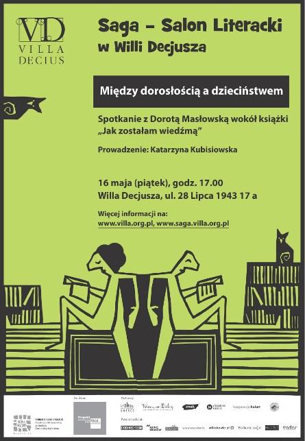 """""""SAGA"""": spotkanie z Dorotą Masłowską– plakat (źródło: materiały prasowe)"""