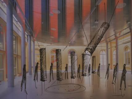 Szkic instalacji multimedialnej w Państwowym Muzeum Etnograficznym (źródło: materiały prasowe)