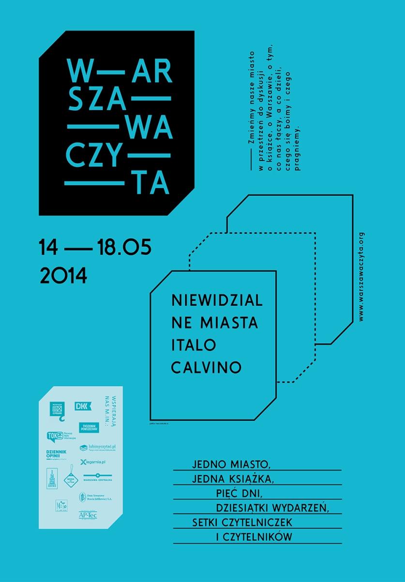 Warszawa Czyta – plakat (źródło: materiały prasowe)