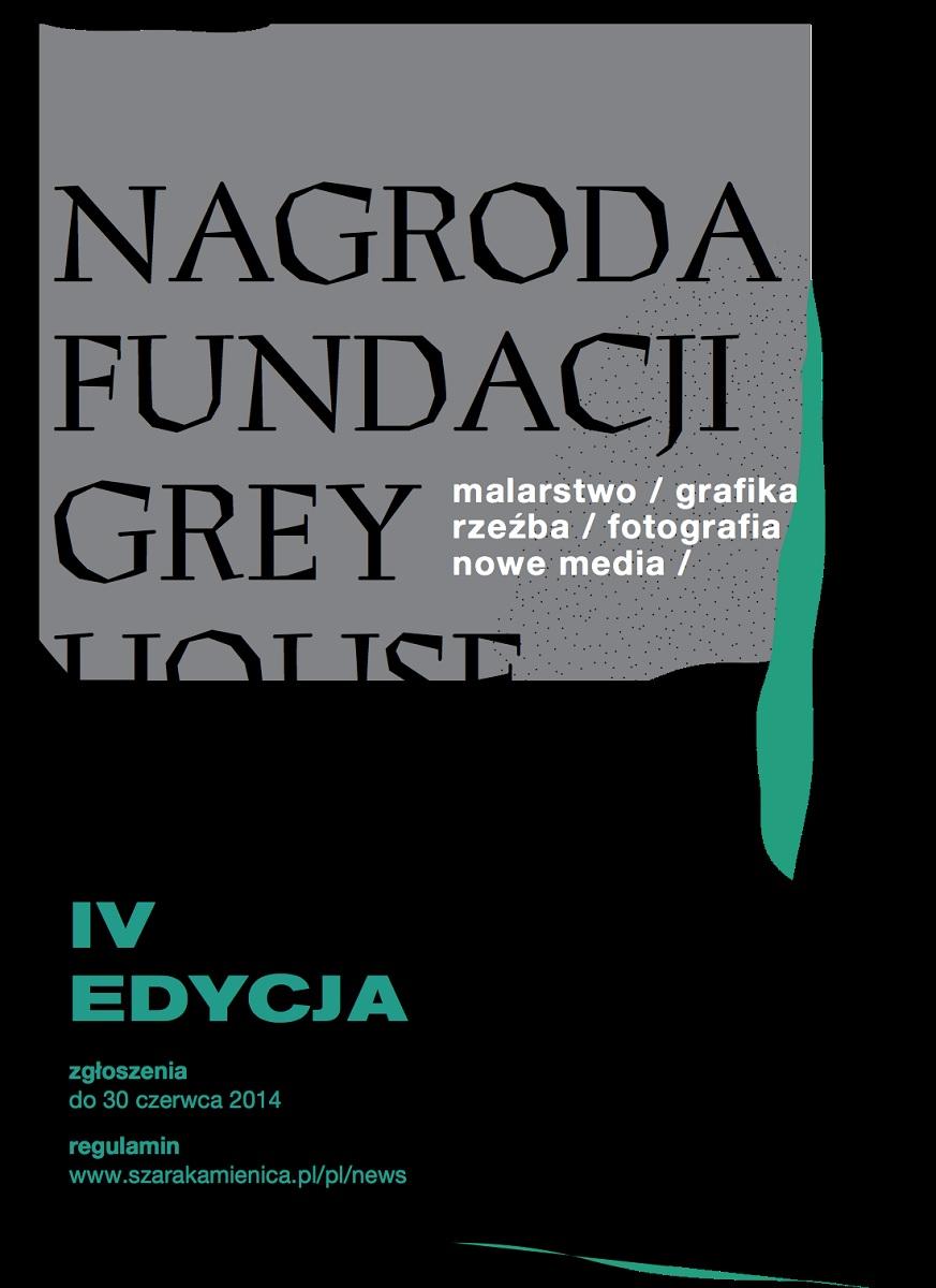 4. Nagroda Fundacji Grey House, plakat (źródło: materiały prasowe organizatora)