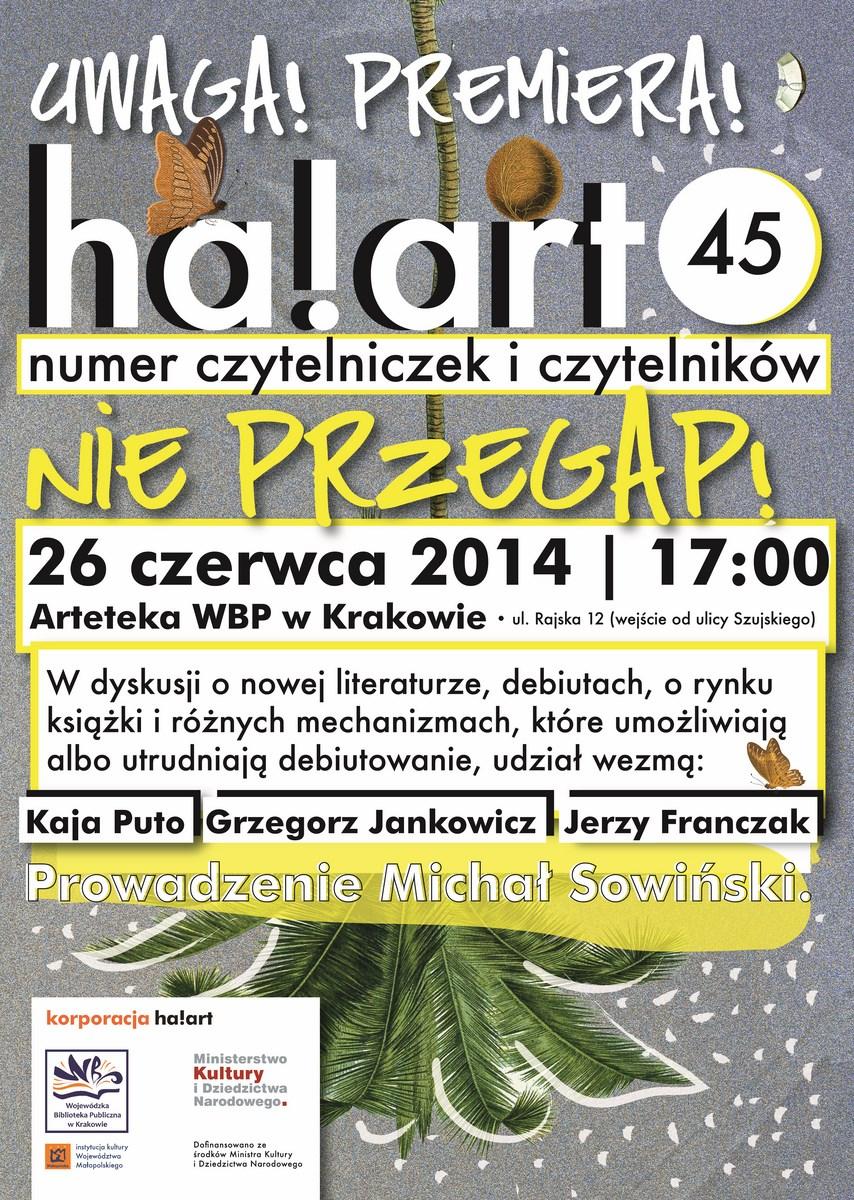 45. magazyn Ha!art, premiera, plakat (źródło: materiały prasowe organizatora)