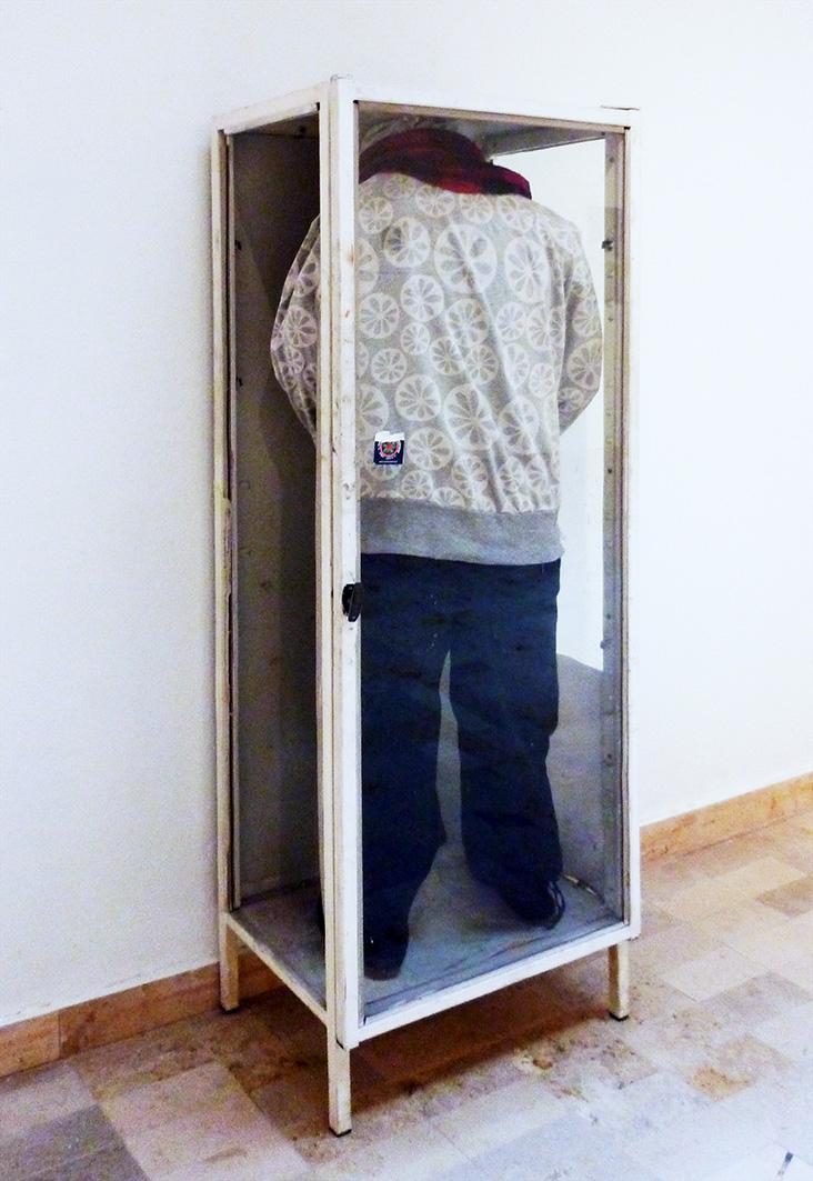"""Agnieszka Ozinek, """"Autoportret beze mnie"""", 2014, instalacja (źródło: materiały prasowe organizatora)"""