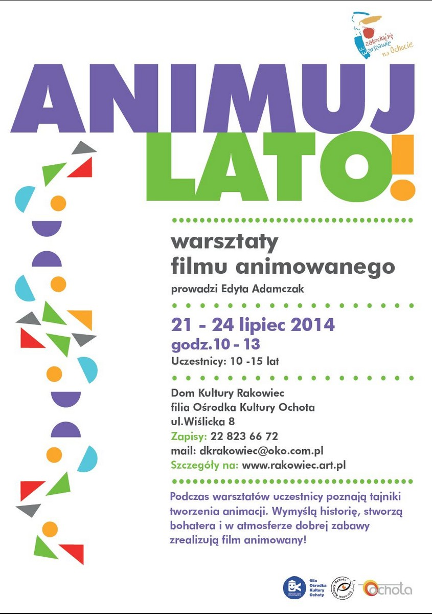 """""""Animuj Lato"""", plakat (źródło: materiały prasowe)"""