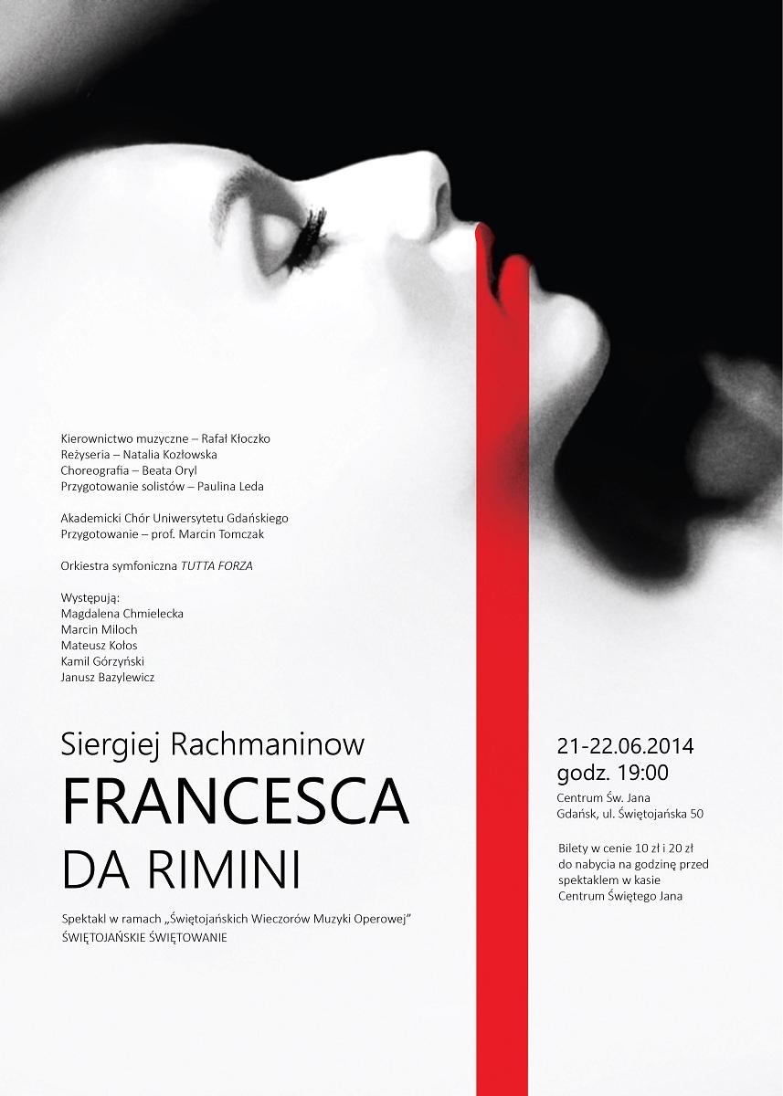 """Francesca da Rimini"", plakat (źródło: mat. prasowe)"