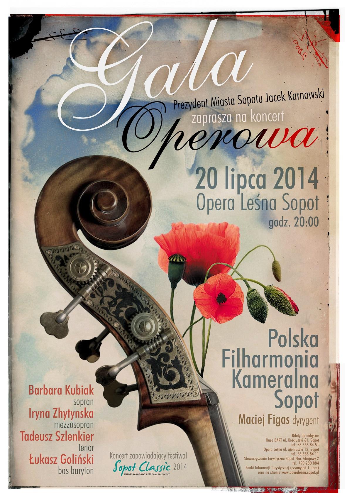 """""""Gala Operowa"""", plakat (źródło: materiały prasowe organizatora)"""