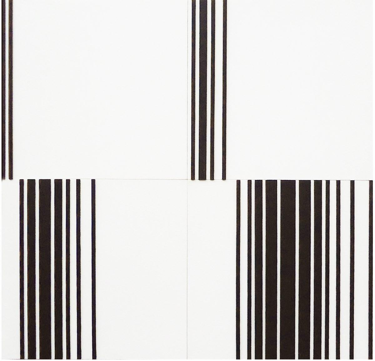 """Jerzy Grochocki, """"1,2,3,4"""", płótno na sklejce, drewno, akryl, 64x64 cm (źródło: materiały prasowe organizatora)"""