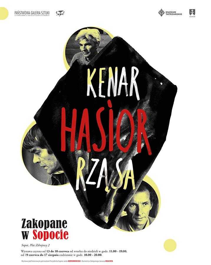 """Wystawa """"Kenar, Hasior, Rząsa. Zakopane w Sopocie"""", Państwowa Galeria Sztuki w Sopocie, plakat wystawy (źródło: materiały prasowe organizatora)"""