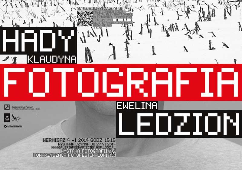 Klaudyna Hady i Ewelina Ledzion, Galeria Pod Napięciem w Łodzi, plakat (źródło: materiały prasowe organizatora)