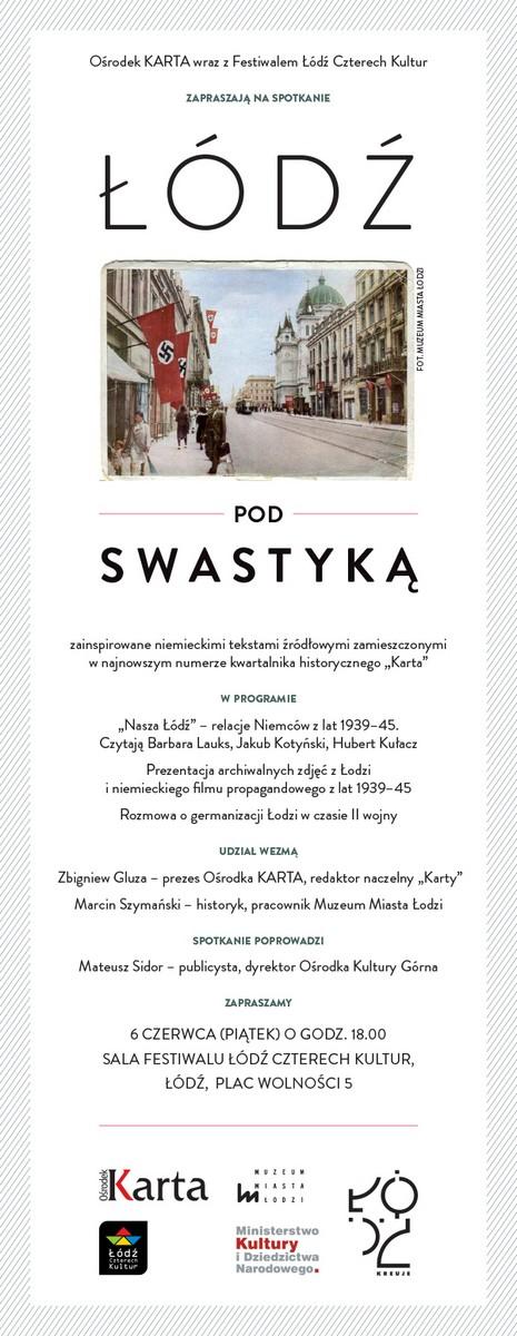 """""""Łódź pod swastyką"""", zaproszenie (źródło: materiały prasowe)"""