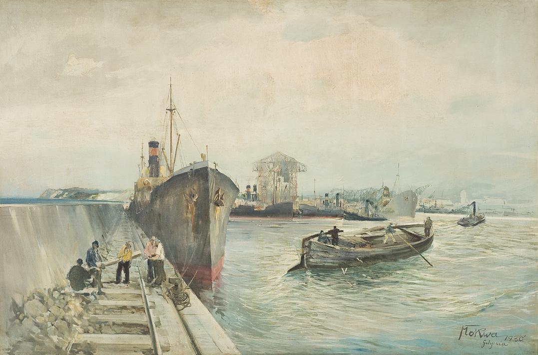 """Marian Mokwa, """"Port Gdyński"""" (źródło: materiały prasowe organizatora)"""