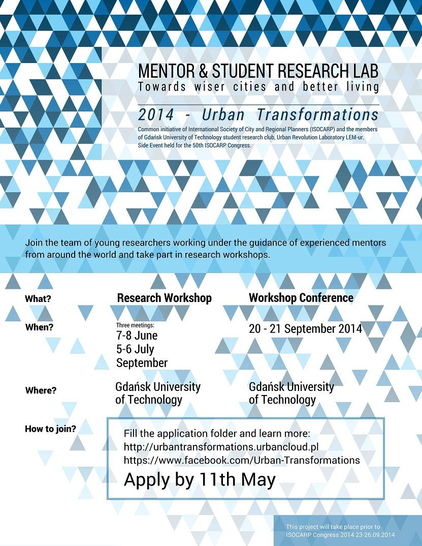 Mentor&Student Research Lab – Urban Transformations – 2014 (źródło: materiały prasowe organizatora)