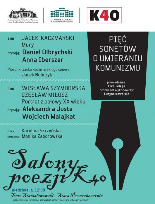 """""""Salony poezji"""", plakat (źródło: materiały prasowe)"""