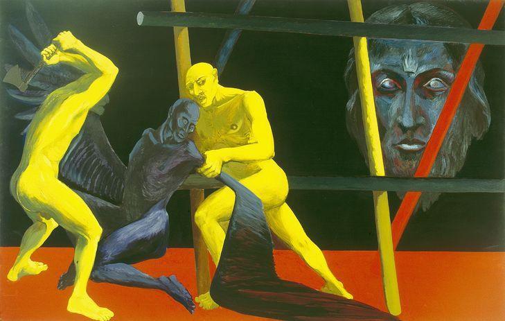 Ryszard Woźniak, +++, 1988, olej, płótno, 200 x 314 cm, kolekcja Muzeum Sztuki Współczesnej w Radomiu, fot. Marek Gardulski (źródło: materiały prasowe organizatora)