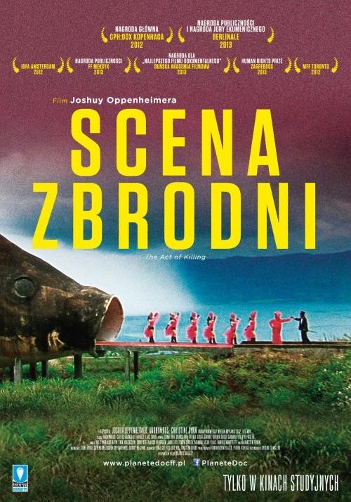 """""""Scena zbrodni"""" reż. Joshua Oppenheimer, plakat (źródło: materiały prasowe)"""