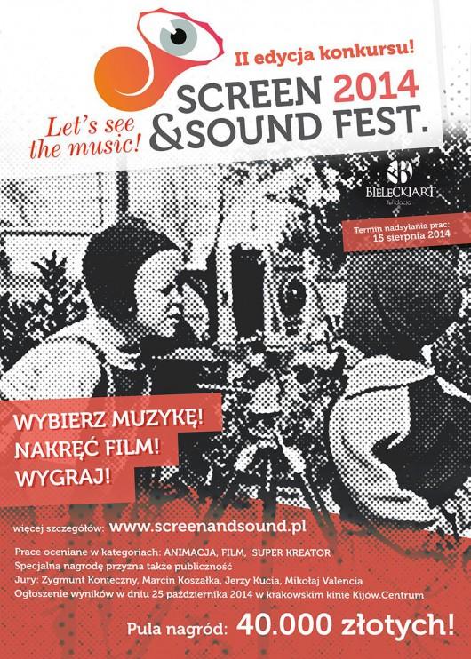 """""""Screen and Sound Fest"""", plakat (źródło: materiały prasowe)"""