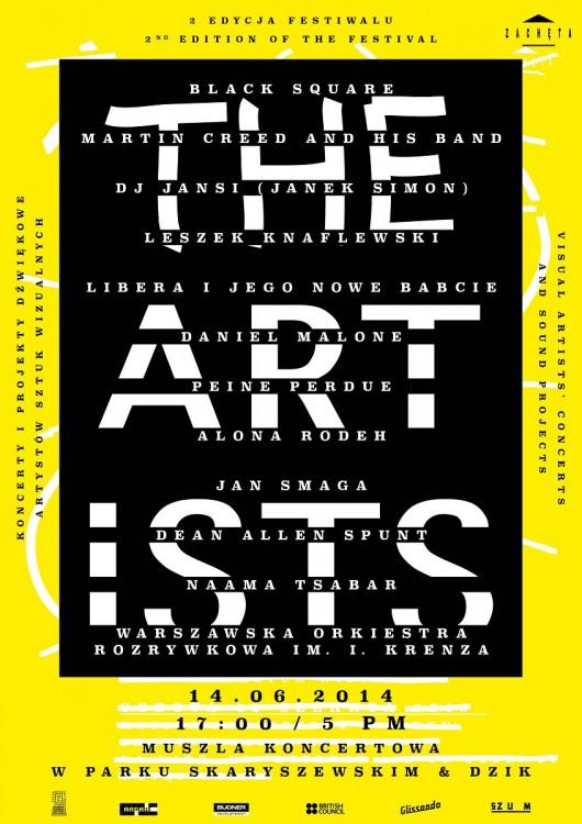 Festiwal The Artists, plakat (źródło: mat. prasowe)