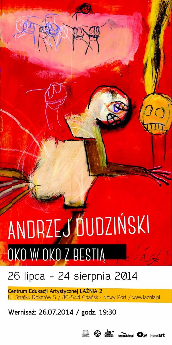 Wystawa prac Andrzeja Dudzińskiego, CEA Łaźnia w Gdańsku, plakat (źródło: materiały prasowe organizatora)