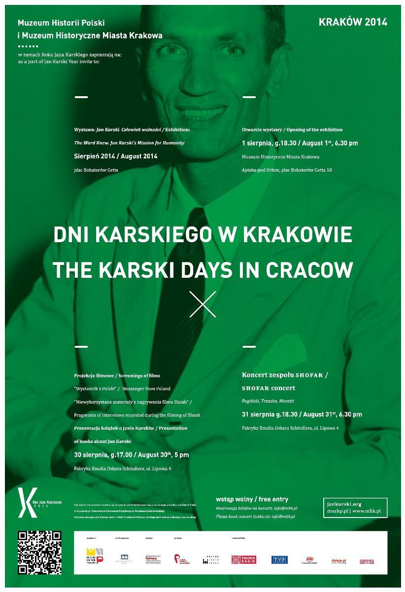 Dni Karskiego w Krakowie – plakat (źródło: materiały prasowe)