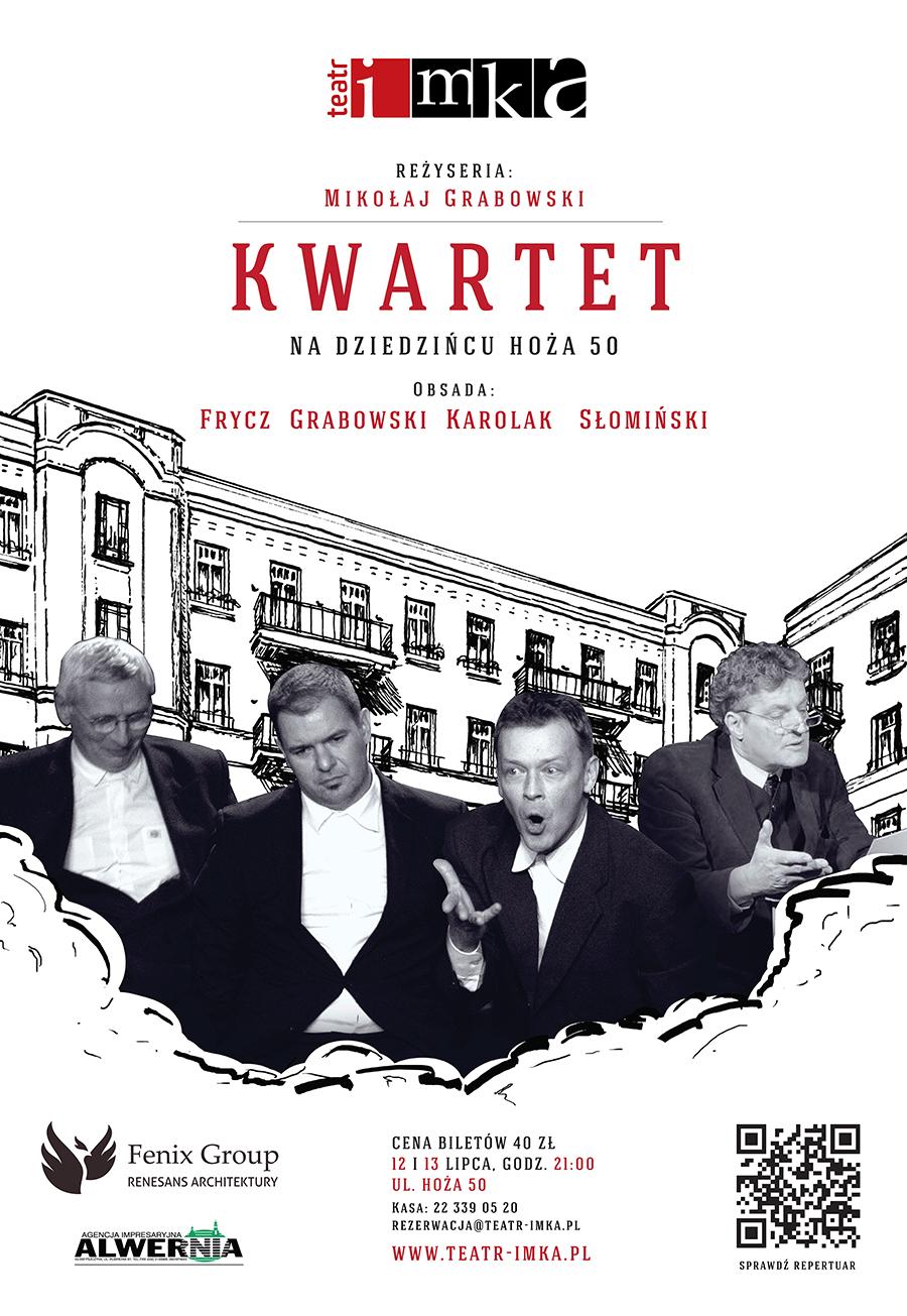 """""""Kwartet"""", reż. Mikołaj Grabowski, plakat (źródło: materiały prasowe organizatora)"""