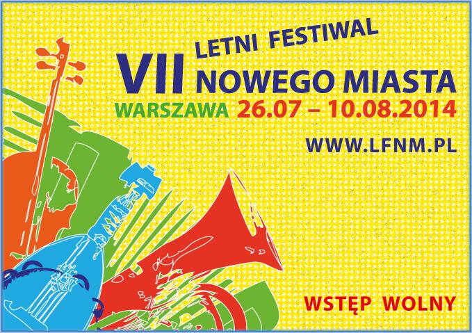 VII Letni Festiwal Nowego Miasta, plakat (źródło: materiały prasowe organizatora)
