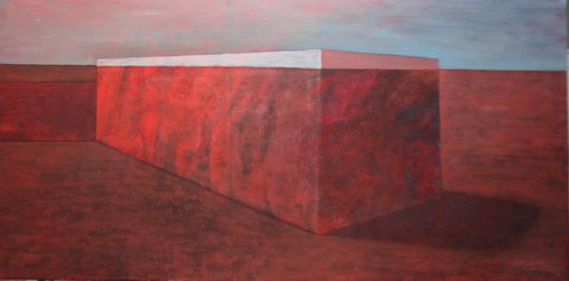 """Lidia Zarzeczna Szkwerko, """"Obiekt"""", 100x50, 2013 (źródło: materiały prasowe organizatora)"""