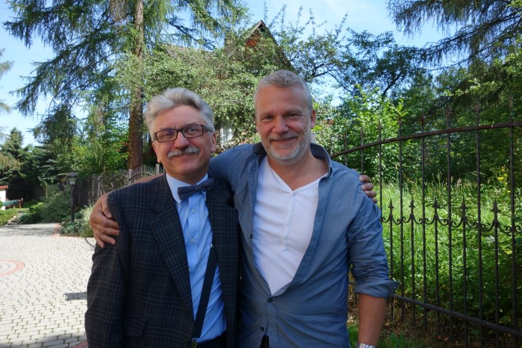 Martin Widmark i Wojciech Widłak (źródło: materiały prasowe)