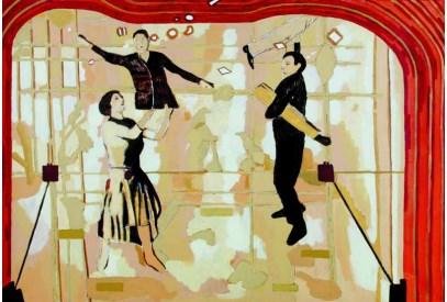 Grupa Pendzle, grafika promocyjna wystawy, Bałtycka Galeria Sztuki Współczczesnej (źródło: materiały prasowe organizatora)