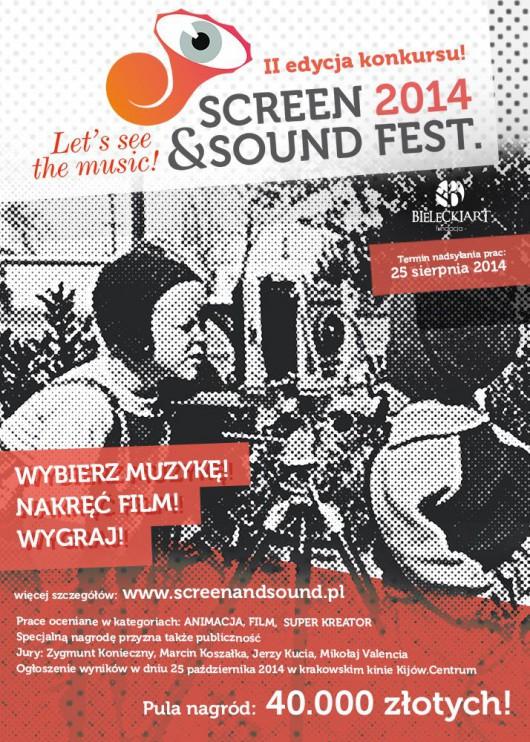 II edycja Festiwalu Screen and Sound, plakat (źródło: materiały prasowe organizatora)