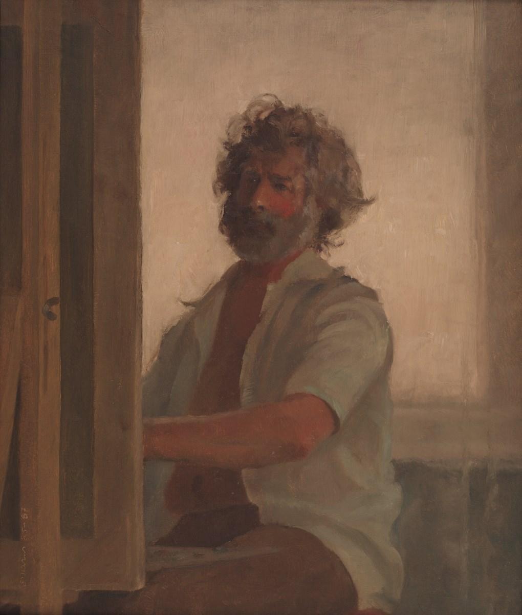 """Stanisław Mazuś, """"Autoportret"""", 1985-1987, ze zbiorów Muzeum Śląskiego (źródło: materiały prasowe organizatora)"""