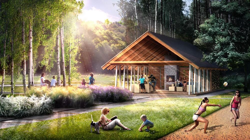 Centrum rekreacji w Ryglicach, proj. BXBstudio & MOSS decor (źródło: materiały prasowe)