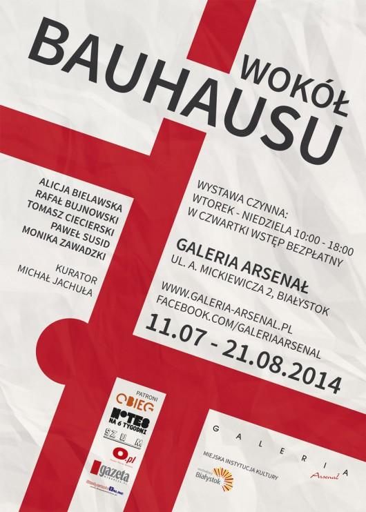 """""""Wokół Bauhausu"""", Galeria Arsenał w Białymstoku, plakat wystawy (źródło: materiały prasowe organizatora)"""