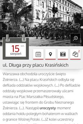 """Aplikacja mobilna """"E-kartka 1939"""" (źródło: materiały prasowe organizatora)"""
