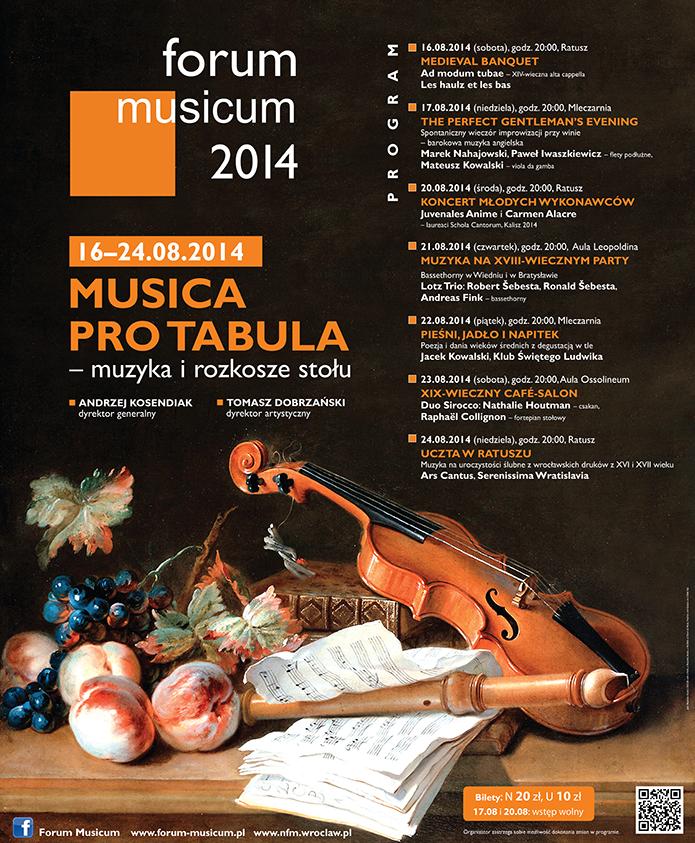 Forum Musicum, plakat (źródło: materiały prasowe organizatora)