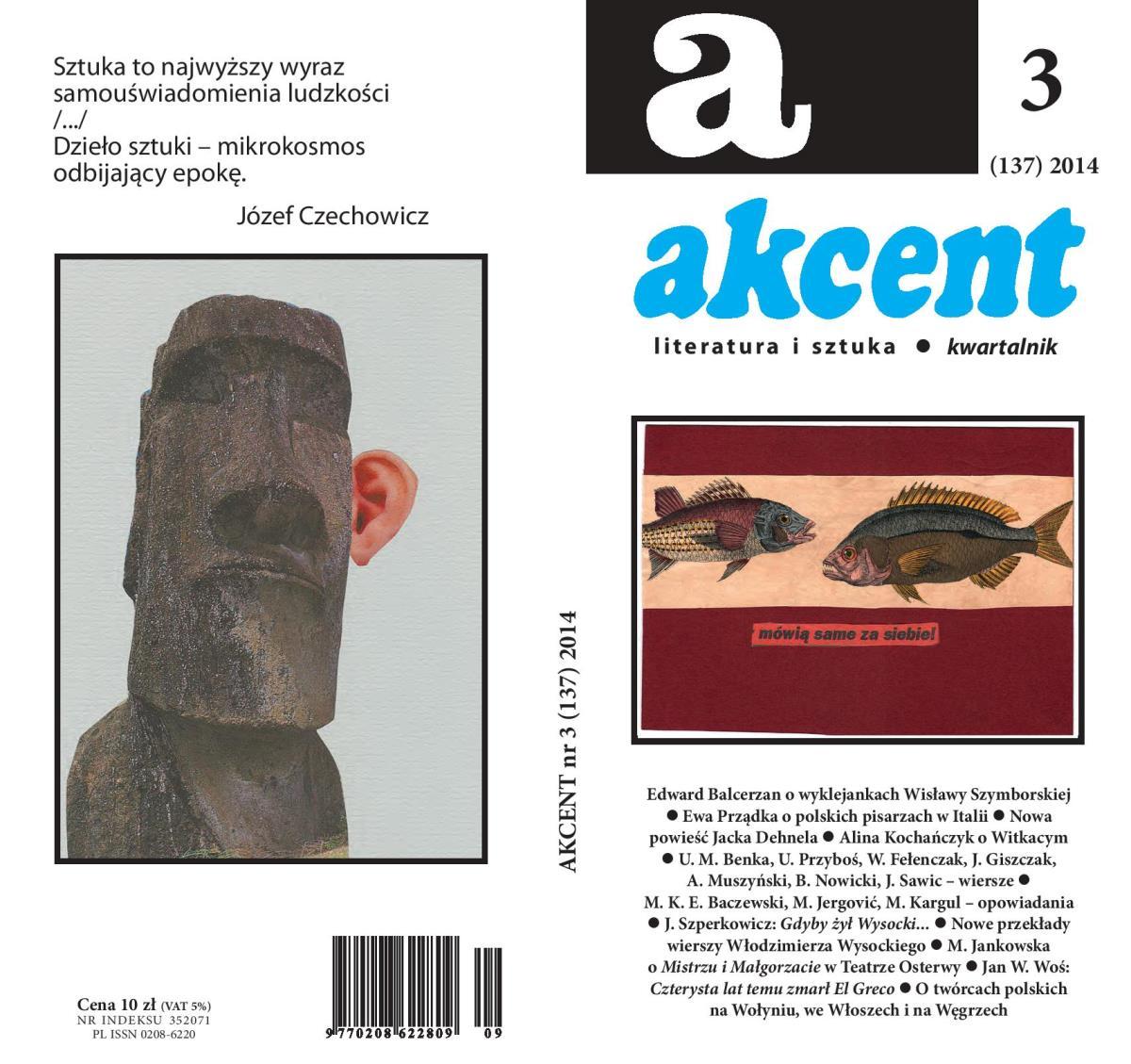 """""""Akcent"""", nr 3, 2014 – okładka (źródło: materiały prasowe)"""
