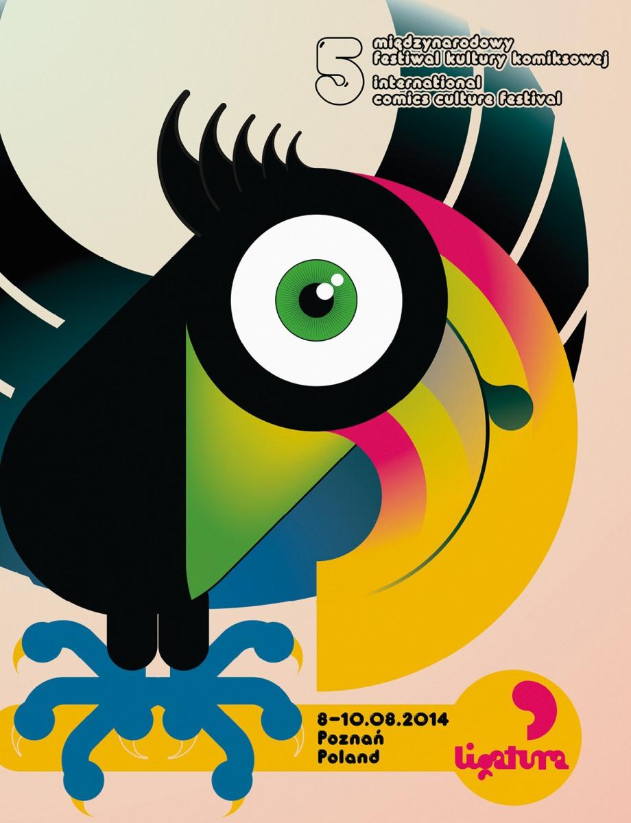 5. Międzynarodowy Festiwal Kultury Komiksowej Ligatura – plakat (źródło: materiały prasowe)