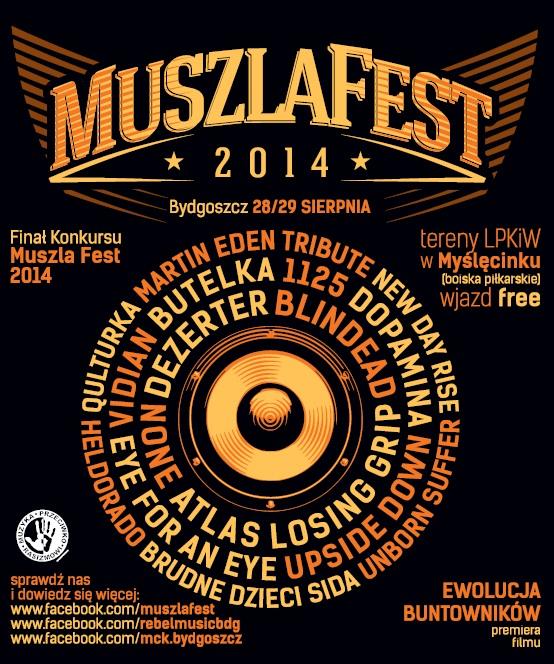 Muszla Fest 2014, plakat (źródło: materiały prasowe organizatora)