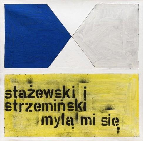 """Paweł Susid, """"Stażewski i Strzemiński mylą mi się"""", 1988, fot. dzięki uprzejmości Fundacji Polskiej Sztuki ING (źródło: materiały prasowe)"""