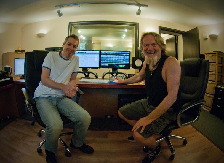 Nick Barett i Carl Groom podczas mixowania albumu (źródło: materiały prasowe wydawcy)