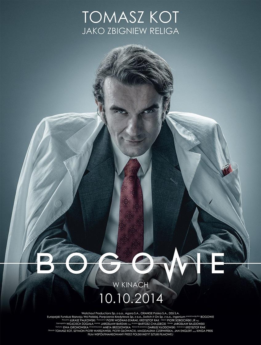 """Plakat filmu """"Bogowie"""" w reżyserii Łukasza Palkowskiego, (źródło: materiały prasowe dystrybutora)"""