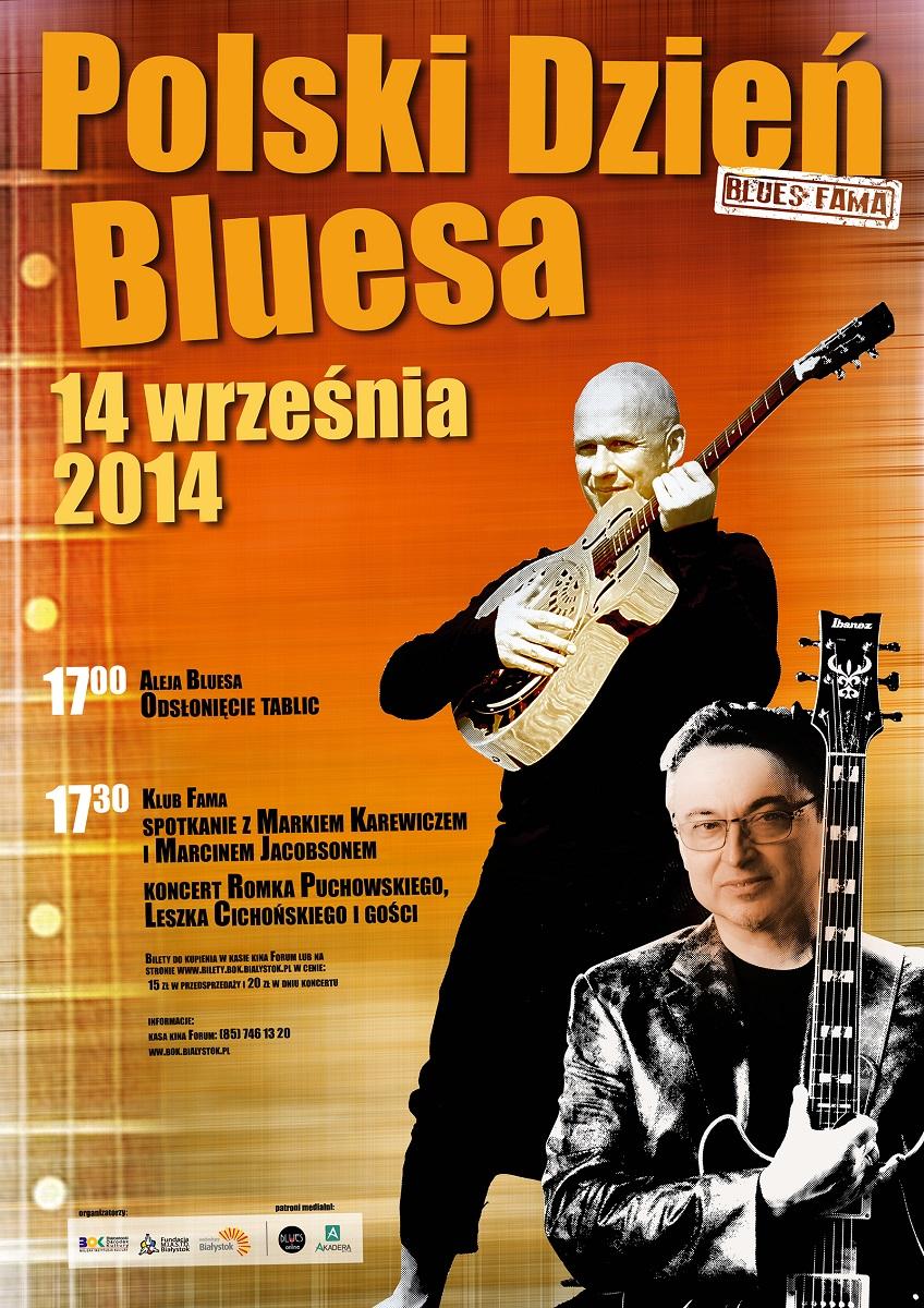 Plakat Dnia Bluesa w Białymstoku, (źródło: materiały prasowe organizatora)
