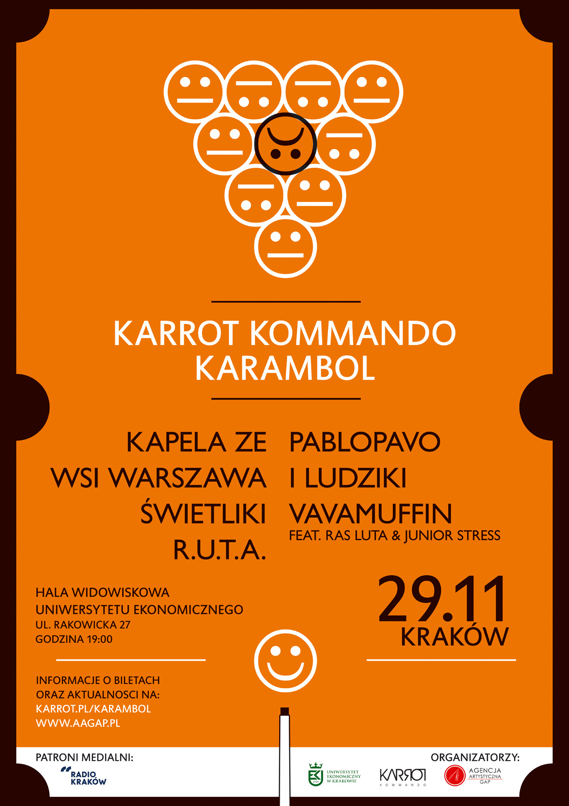 Karrot Komando Festival, plakat, (źródło: materiały prasowe organizatora)