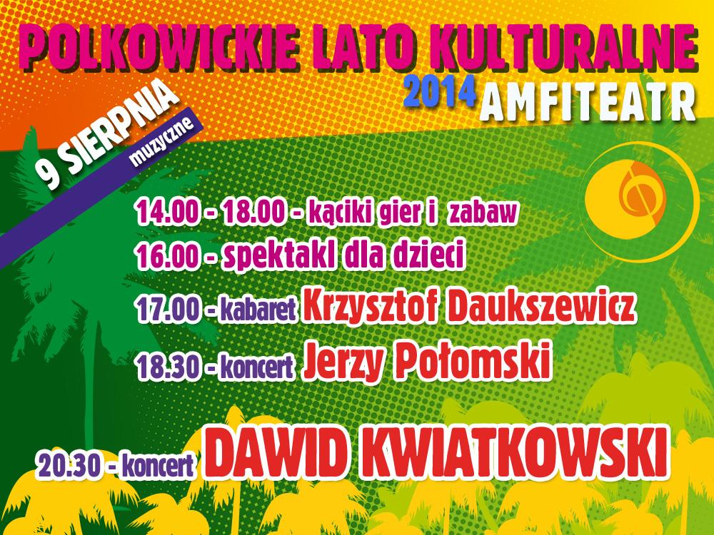 Plakat Polkowickiego Lata Kulturalnego, (źródło: materiały prasowe organizatora)