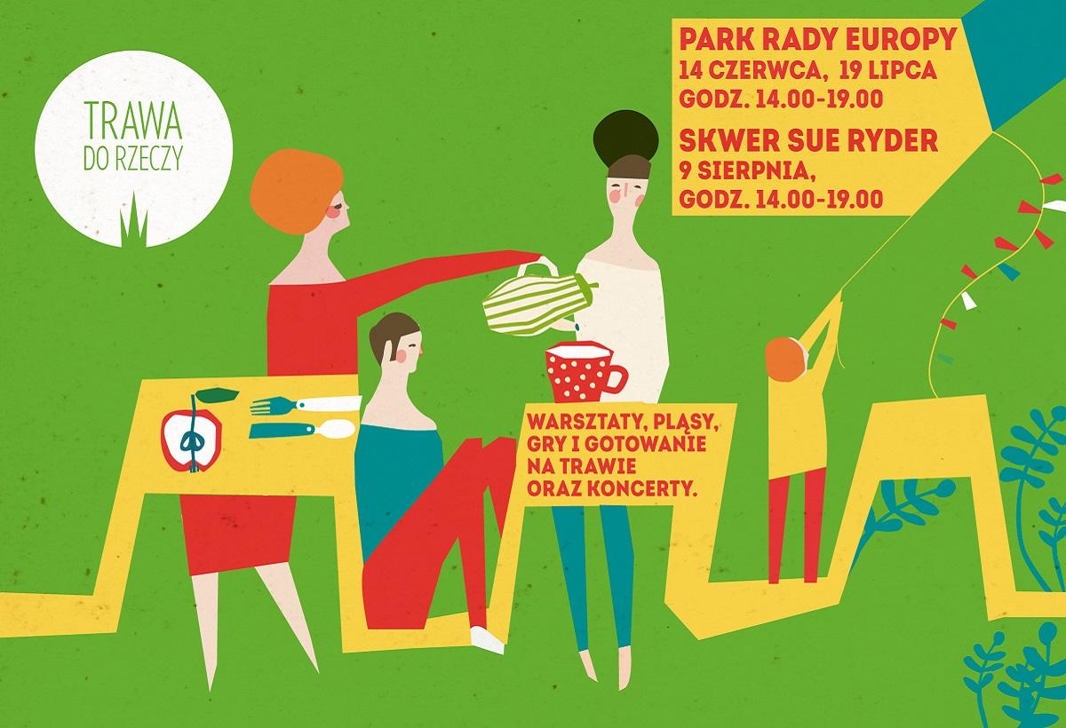 """Plakat inicjatywy """"Trawa do Rzeczy"""", (źródło: materiały prasowe organizatora)"""