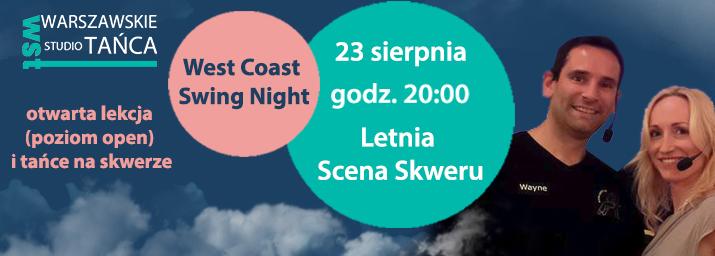 Plakat West Coast Swing Night, (źródło: materiały prasowe organizatora)
