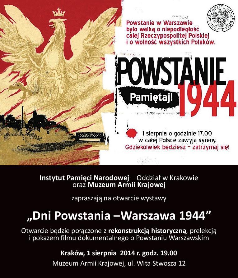 Powstanie Warszawskie – anons (źródło: materiały prasowe)