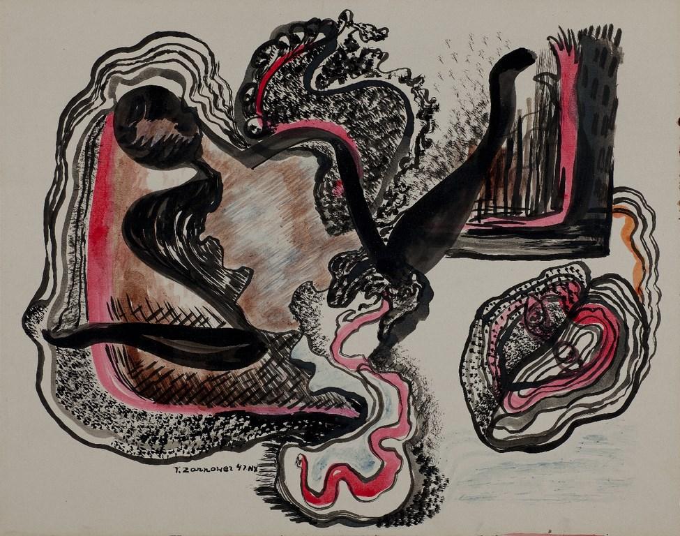 """Teresa Żarnower, """"Kompozycja"""", 1947, Muzeum Sztuki w Łodzi (źródło: materiały prasowe)"""