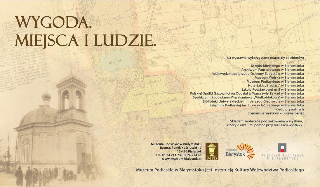 """""""Wygoda. Miejsca i ludzie"""", plakat, (źródło: materiały prasowe organizatora)"""