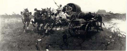 """Józef Brandt """"Wyjazd na polowanie"""" (źródło: materiały prasowe)"""