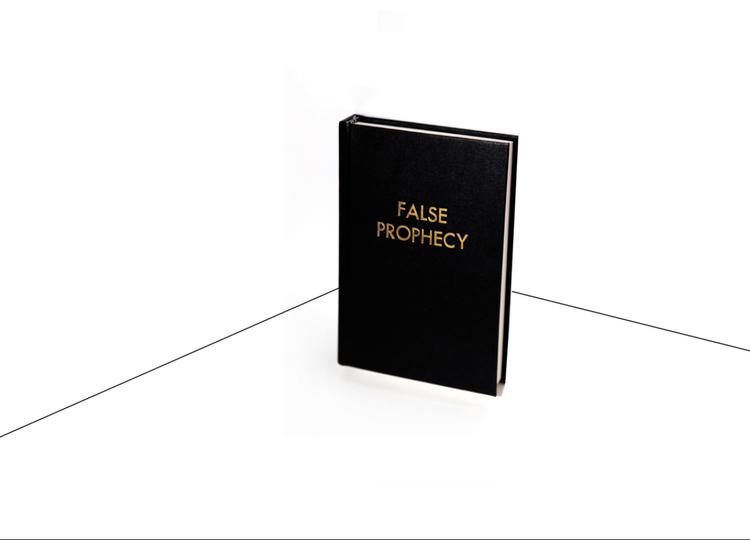"""Babuščák, """"False prophecy"""", książka, 2010 (źródło: materiały prasowe organizatora)"""